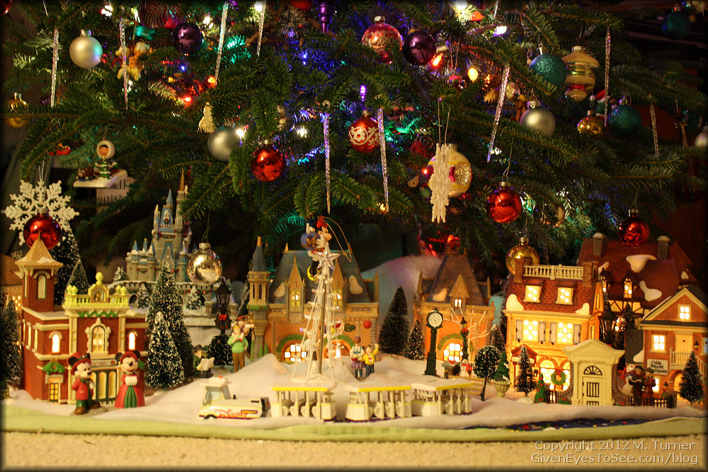 under christmas tree village