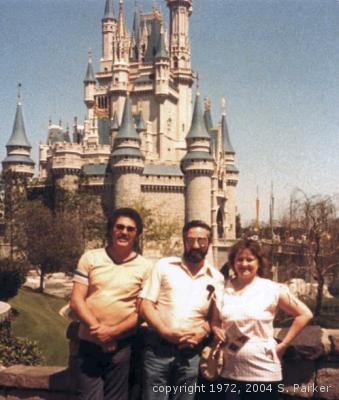 With Cinderella Castle in the background